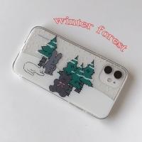 [뮤즈무드] winter forest (clear) 아이폰케이스