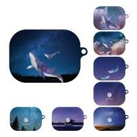 고래와 풀문 디자인 에어팟 프로 호환 하드 케이스_(1193548)