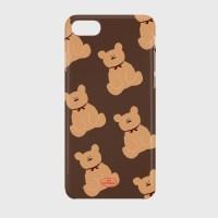 adult bear pattern brown 하드케이스_(878238)