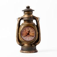 빈티지 엔틱 램프 시계 인테리어소품 탁상시계