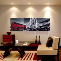 런던풍경 벽시계(120cm)/ 병풍디자인 대형벽시계