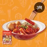 썬더버드 클린떡볶이(냉동) 450g, (어묵 + 현미떡), 3팩