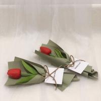 튤립 볼펜 꽃다발