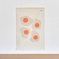 계란 일러스트 패브릭 포스터 / 가리개 커튼