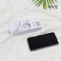 아이정 피코탭 USB 2구 개별 멀티탭 1.5M_(2686052)