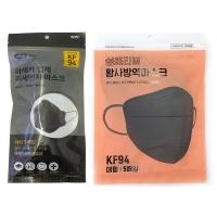그레이 대형 KF94 5매입 랜덤배송(쉼표리빙or아레카)/1인당100개한정