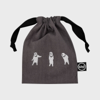 Chic Boy Bear Embroidery String Pouch