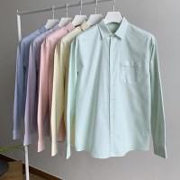 LAINE 파스텔 카라 옥스포드 스프라이프 와이셔츠