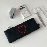 heart pencil case