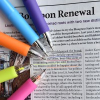 5way Color Pen (형광피치,형광옐로우,블랙,블루,레드 5색심)