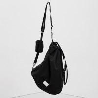 [미니파우치증정][6/23 예약배송]FENNEC FABRIC SLING BAG - BLACK