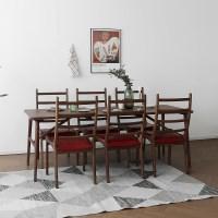 [헤리티지월넛] V형 식탁/테이블 세트_(1492699)