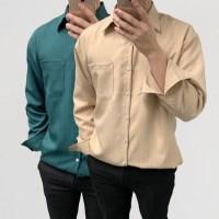 어깨넓어보이는 루즈핏 세로줄 스트라이프 셔츠남방
