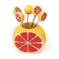 [파켈만]과일모양 포크꽂이,포크 6pcs 48498