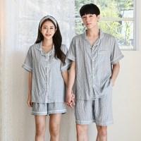 쿨링 커플 잠옷 여름 파자마 (냉감소재)