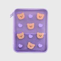 Dot love and bear-purple(PVC 파우치)_(1559974)