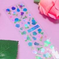 영롱한 Rosy Rose - Blue 칼선 스티커