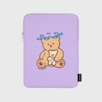 Blue bird bear-purple-ipad pouch(아이패드 파우치)_(1578607)