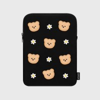 Dot flower bear-black-ipad pouch(아이패드 파우치)_(1578606)