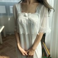 모달 레이스 스퀘어넥 원피스 홈드레스
