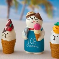 데꼴 아이스크림 알바고양이 피규어