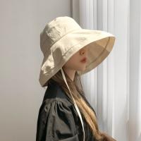 퍼티그 턱끈 와이드 빅챙 벙거지 모자