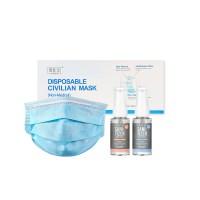 [50개입] 멜트블로운 3중필터 초경량 마스크+퍼퓸 손소독제 2개