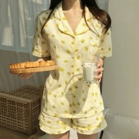 데이지 클래식 파자마 여름 잠옷