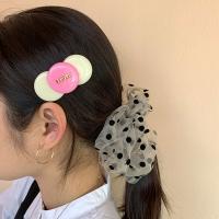 [Fruta] pink circle circle hair clip
