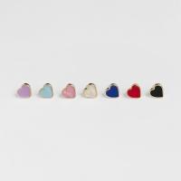 daily heart earrings (7colors)