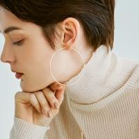 Hoop Ring Earrings 65mm (14K 골드필드)