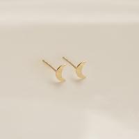 14k gold cutting crescent earrings (14K 골드)