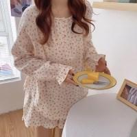 Cherry frill pajama