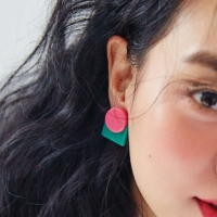 PUZZLE DOT EARRING