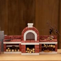 [리얼브릭] DIY 미니어처 브라운 피자화덕 B세트