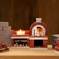 [리얼브릭] DIY 미니어처 브라운 피자화덕 A세트