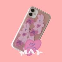 [뮤즈무드] big bunny MAY (clear) 아이폰케이스