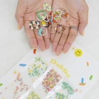 비즈반지만들기 세트 X6 대용량 DIY 키트 5type Dahlia 꽃비즈 링