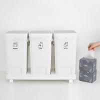 원터치 3칸 분리수거함 + 전용 비닐봉투 20L 100매