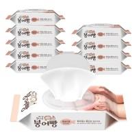 붕어빵 아기 물티슈 얼굴전용 캡형 40매 10팩