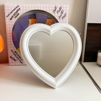 Bubble Heart Mirror 버블하트미러 - 화이트