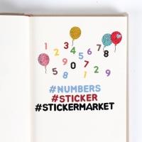 스티커마켓 알파벳8종+숫자8종 스티커팩