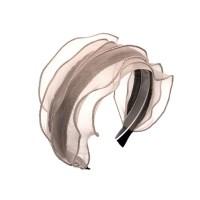 chiffon layered hairband (beige)