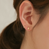 18k gf shell mini earrings (14k 골드필드)