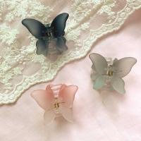[봄밤달] 투톤 나비 집게핀