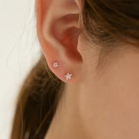 14k gold star CZ earrings (14k 골드)