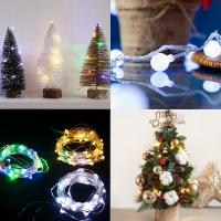 LED 건전지용 크리스마스 장식 전구 8종모음 인테리어