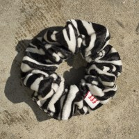 Fabric scrunchie_ zebra
