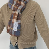 slowstitch winter check muffler