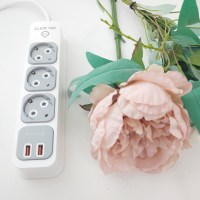 부엉이클릭탭 USB Q2 3구 3M (그레이)